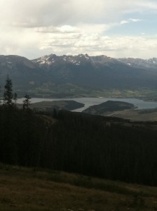 View from the summit on Keystone's mountain biking trail.