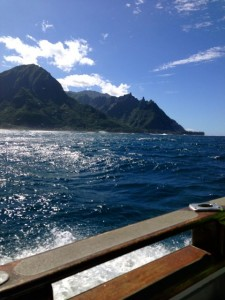 An unforgettable catamaran trip up the Na Pali Coast was the highlight of our trip.