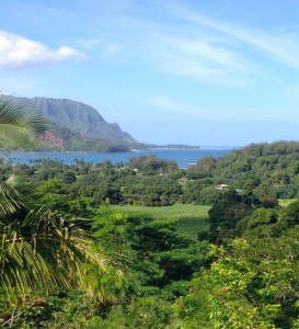 The verdant Hanalei Valley -- breathtaking!