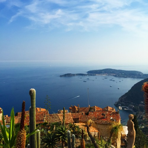 View from the Jardin Exotique d' Eze