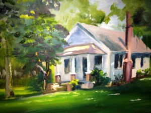 A painting of my father-in-law's family farm in northern Florida.
