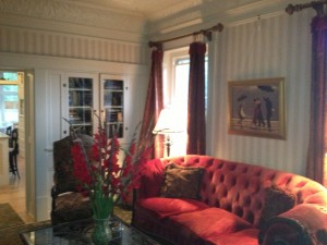 The living room at England House is beautiful!
