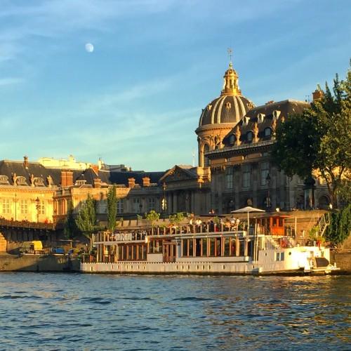 Beautiful building line the enchanting River Seine.