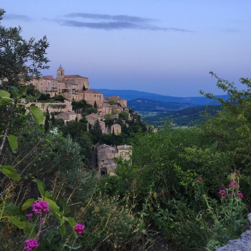 The village of Gorde, perched high above the Luberon valleys.